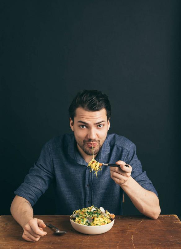 jimi mit spaghetti