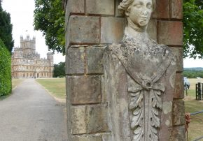 Highclere entrance statue