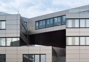 Neubau des CentoNew Bürogebäudes mit genetischem Diagnostikzentrum, Rostock; Foto (c) EG Esch