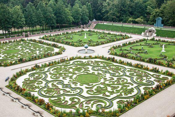 Buchsbaumparterre im Untergarten von Paleis Het Loo, Niederlande