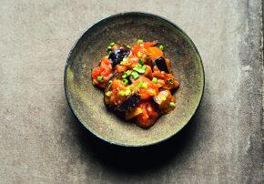 Als Abschluss vom Tag etwas wohltuendes: japanische Aubergine