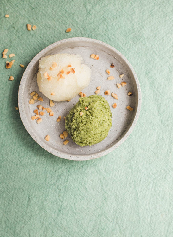 wilde wiese_Kamillen-Honig Sorbet_Frozen Yoghurt mit Sauerampfer