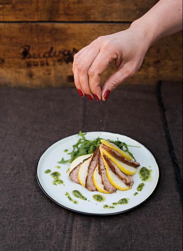Enten-Birnen-Salat