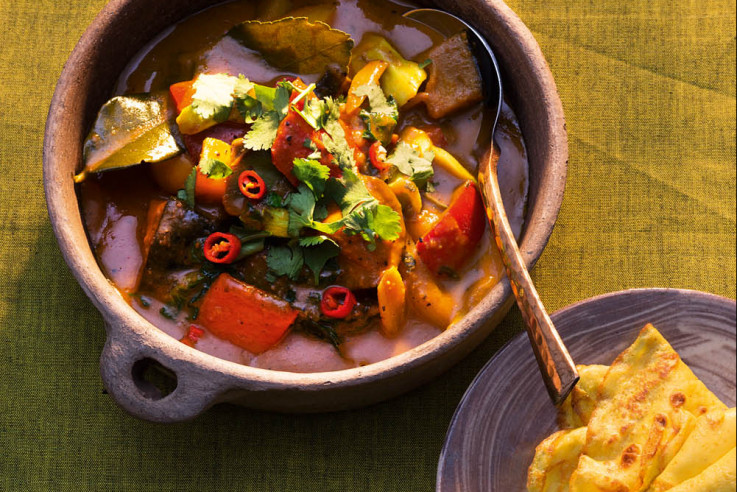 Gemüsecurry mit Roti Jala