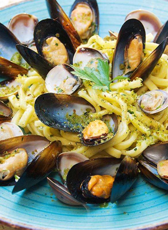Puglia Vito_Perbacco_Scialatielli mit Meeresfrüchten