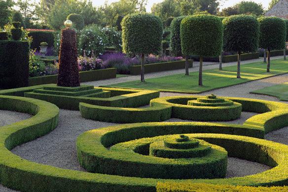 Formale Hecken der Hilborough House Gardens