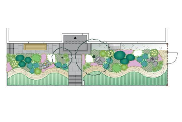 Vorgarten Idee 2 Plan