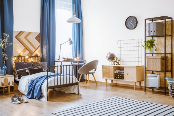 Bright bedroom for a boy